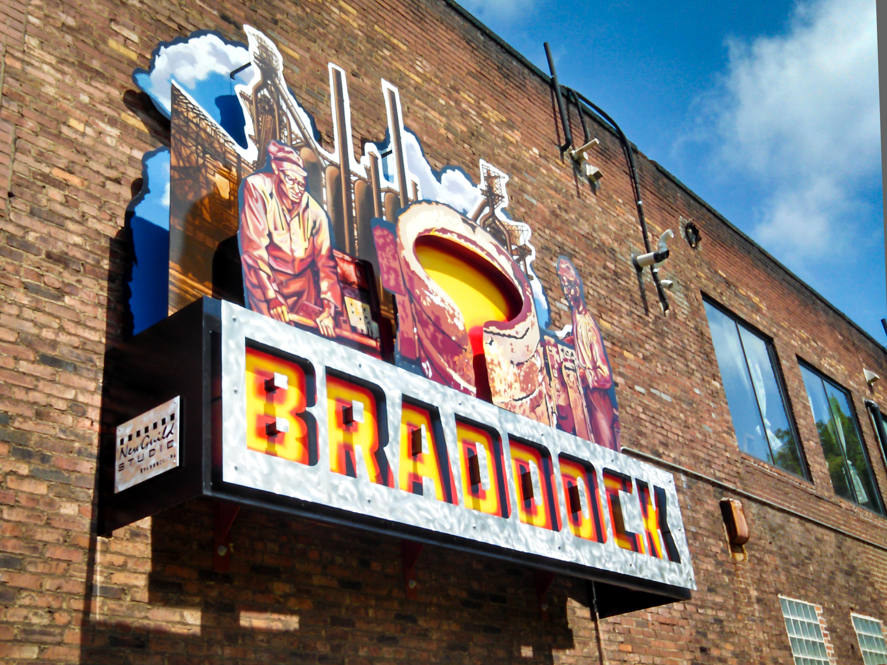 Braddock sign, courtesy of New Guild Studio