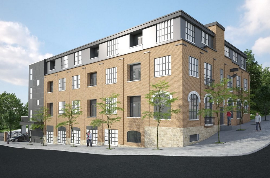 Rendering of Bloomfield Lofts.