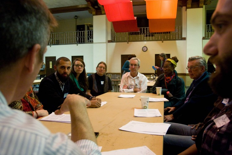 The Art of Democracy helps facilitate an Affordable Housing Task Force Forum. Photo courtesy of Michael Arnold Mages