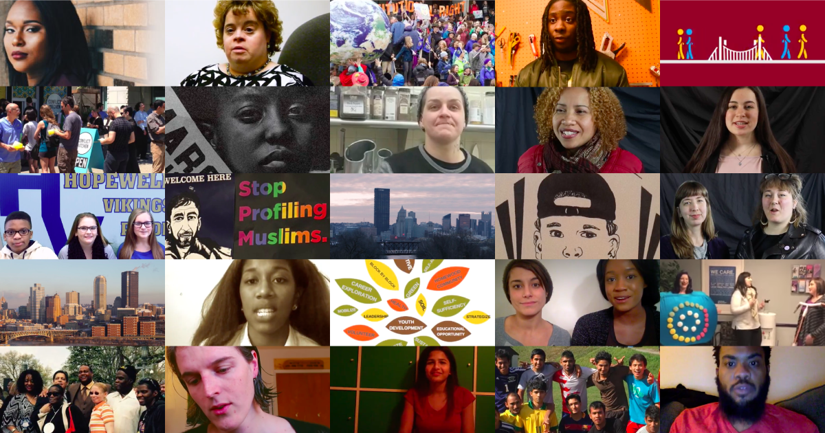 "Some of the 25 Projects selected for Sprout Fund's ""100 Days of US."" Images courtesy of The Sprout Fund."