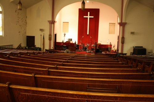 Inside the Millvale United Methodist Church. Rachel Kim photo.