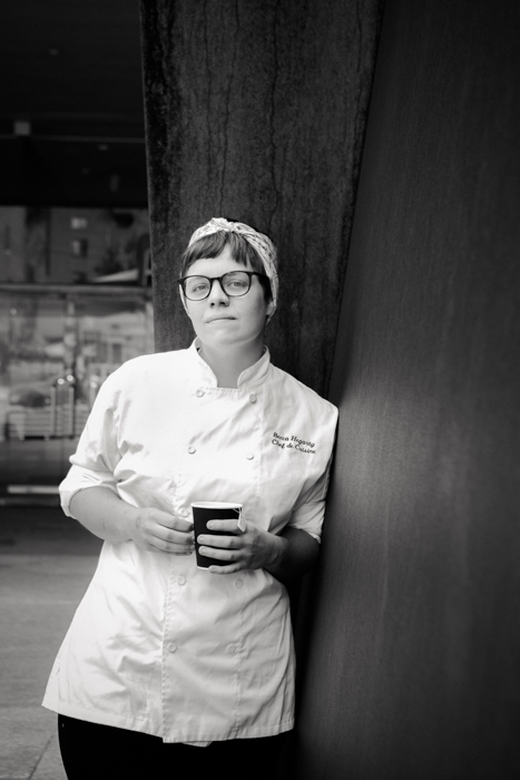 Becca Hegarty, chef de cuisine, The Café Carnegie. Photo by: Laura Petrilla