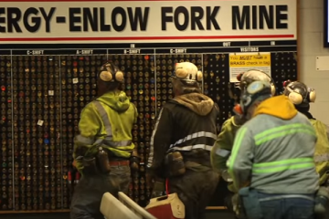 Miners at the Enlow Fork Mine in Greene County, PA. Image courtesy of GK Visual.