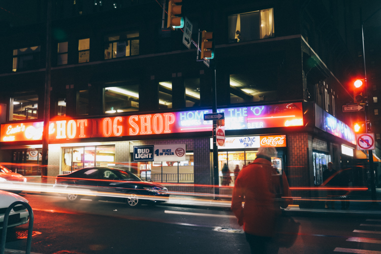 The Original Hot Dog Shop. Photo by Tom O'Connor.