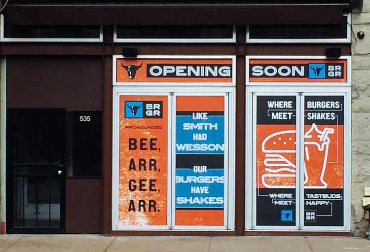 New BRGR location on Liberty Avenue (Photo by: BRGR)