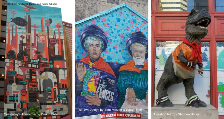 Downtown murals, photos via Google's Public Art Map