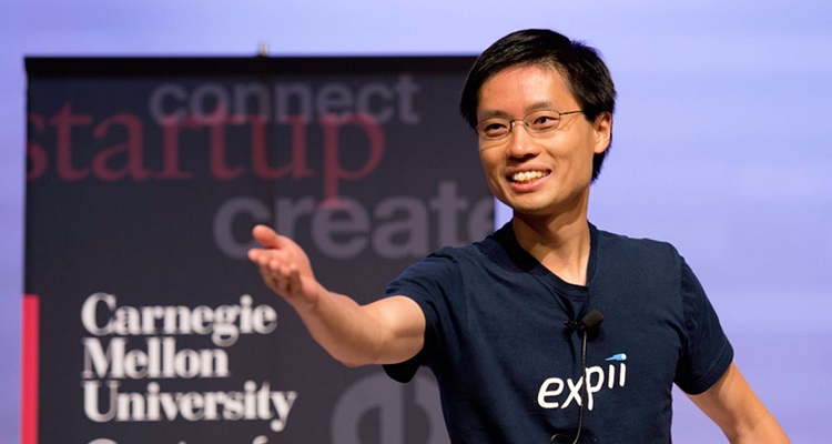 Expii founder Po-Shen Loh. Image courtesy of the Carnegie Mellon Swartz Center for Entrepreneurship.
