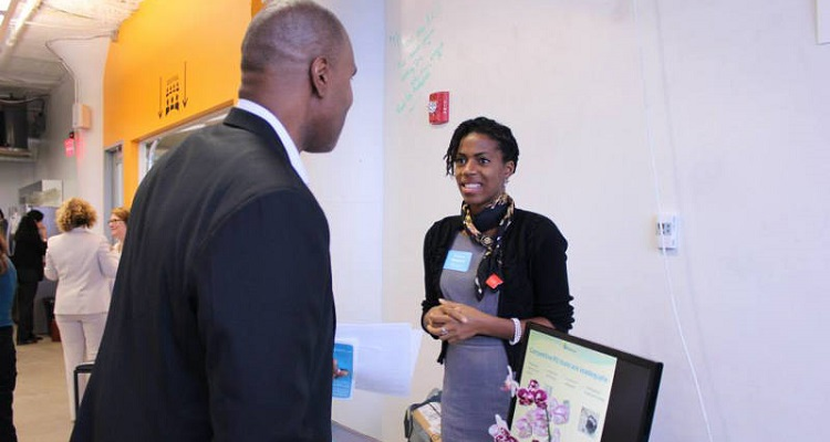 Dr. Sanna Gaspard of Rubitection at the 2014 MassChallenge. Image courtesy of Rubitection.
