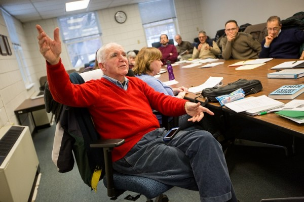 "ACCAN co-founder and ""Living Downwind"" contributor Thaddeus Popovich speaks at a meeting with the Allegheny County Health Department. Photo by Annie O'Neil."