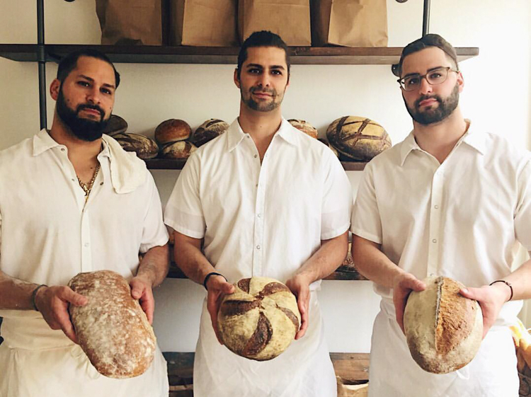 Brothers Anthony, Michael and Nicholas Ambeliotis of Mediterra Bakehouse. Photo by Mediterra Bakehouse.