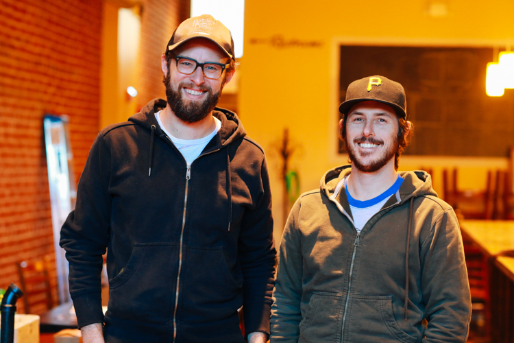 Justin Vetter (L) and Neil Blazin (R) of Driftwood Oven. Photo by Tom O'Connor.